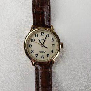 Timex Indiglo Gold Tone Date Quartz Watch
